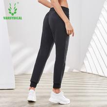 Damskie oddychające spodnie dresowe sznurkiem Fitness spodnie do biegania luźne cienkie bawełniane spodnie damskie spodnie sportowe Vansydical 2019 tanie tanio Pełnej długości Bieganie Poliester COTTON Kobiety Sznurek FP1826601 Pasuje prawda na wymiar weź swój normalny rozmiar