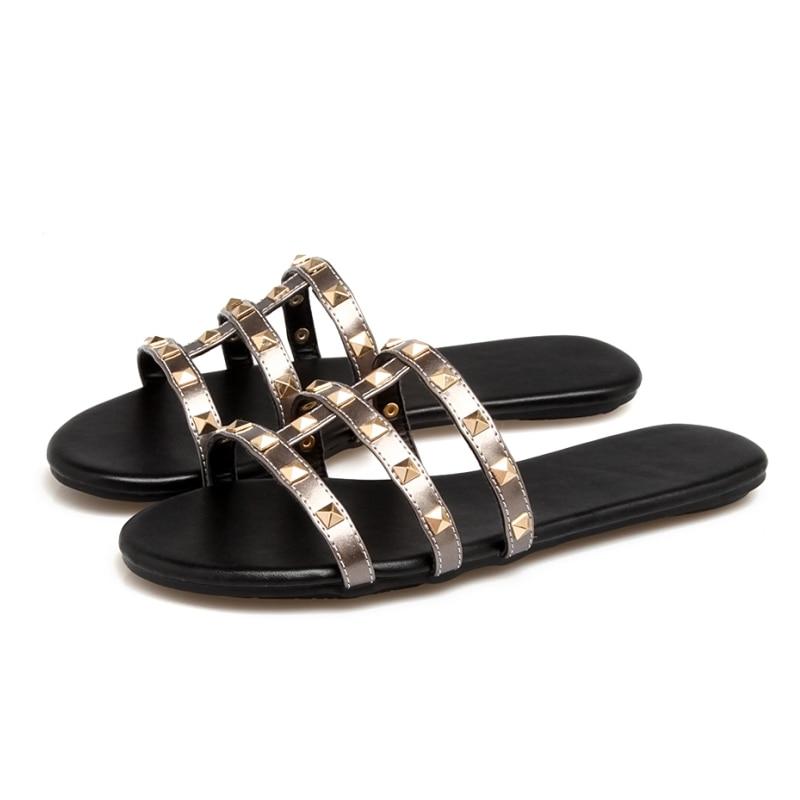 SARAIRIS Summer Plus Size 34-43 zapatillas con remaches punk Comfort - Zapatos de mujer - foto 6