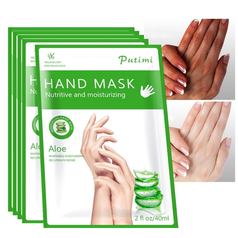 1packs Aloe Hand Mask Peel Hand Care Moisturizing Spa Gloves Whitening Hand Cream Exfoliating Hand Scrub Remove Dead Skin Care