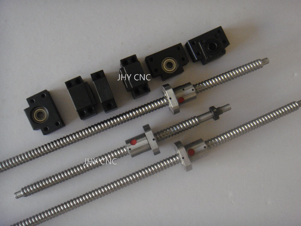 3 vis à billes RM1605-900/1300/1500mm avec des noix abd fin-M + 3 set BK/BF12