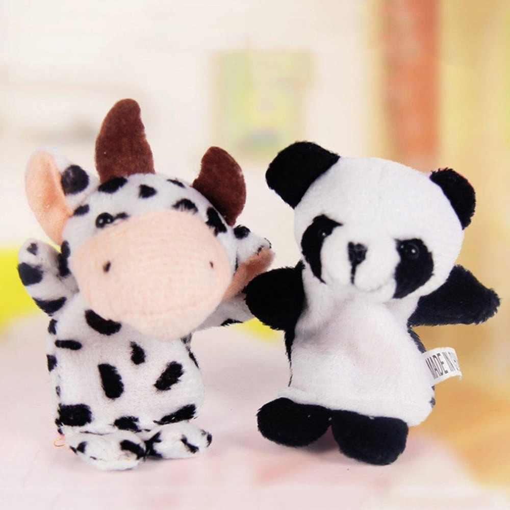 1PC Dedo Animal de Pelúcia Brinquedo Do Bebê Dual-layer Storytelling Adereços Crianças Brinquedos Do Presente Do Divertimento Do Bebê boneca de Brinquedo de Pelúcia presente das crianças