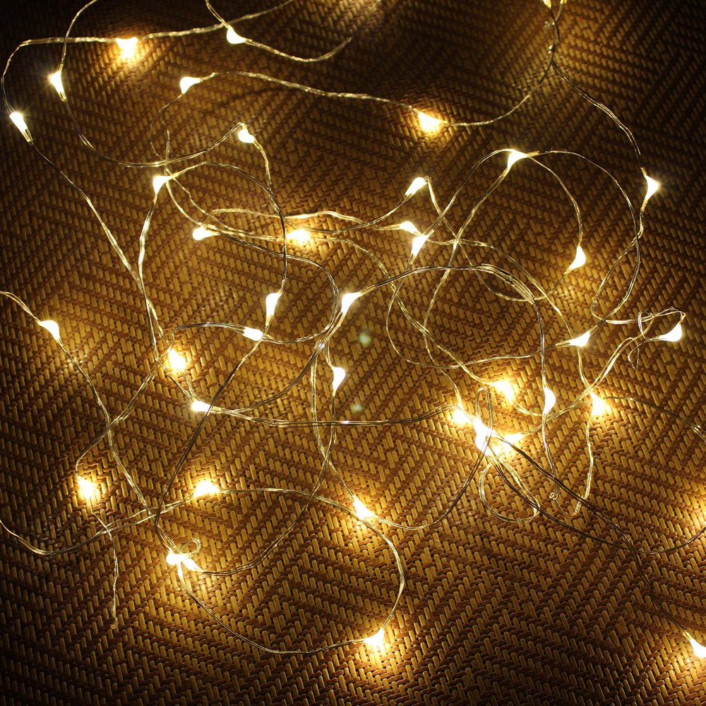 New Year Christmas Garland Copper Wire <font><b>LED</b></font> String Lamp <font><b>Fairy</b></font> <font><b>lights</b></font> 1/2/5/<font><b>10</b></font>/20M Length For Indoor Xmas Wedding Decoration image