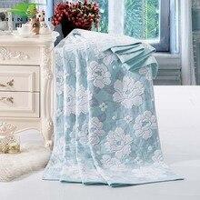 Ming jie Nueva Moda de China toalla de algodón Mantas para camas baño Peonía 1 unids Colcha juego de Cama Edredón Hoja Sofá Viajes mayoristas