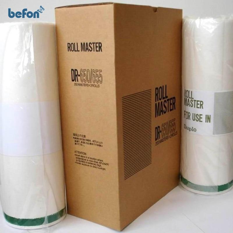 ФОТО befon Master Roll DR650 655 A3 for DUPLO SERIES DP4030 43e 43f 43s 2 rolls/box