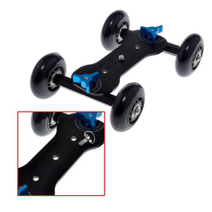 """Image 4 - Mobile Rolling Sliding Dolly 7"""" Magic Arm Extendable Self Portrait Handheld Monopod With Attached Tripod Mount For GoPro 7"""