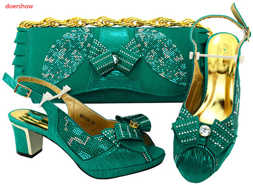 doershow Fashion Design African Shoes and Bag Matching Set High Quality Italy Shoes and Bag Match to Party Free Shipping HVP1-28 free shipping fashion woman matching shoes and bag set italian for party high quality design wholesale price doershow hp1 23