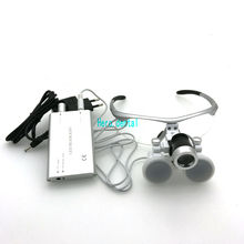 Dental Loupes 3.5X420mm Surgical Glasses with LED Head Light Lamp CE Proved Dental Equipment Surgical Dentists Magnifier