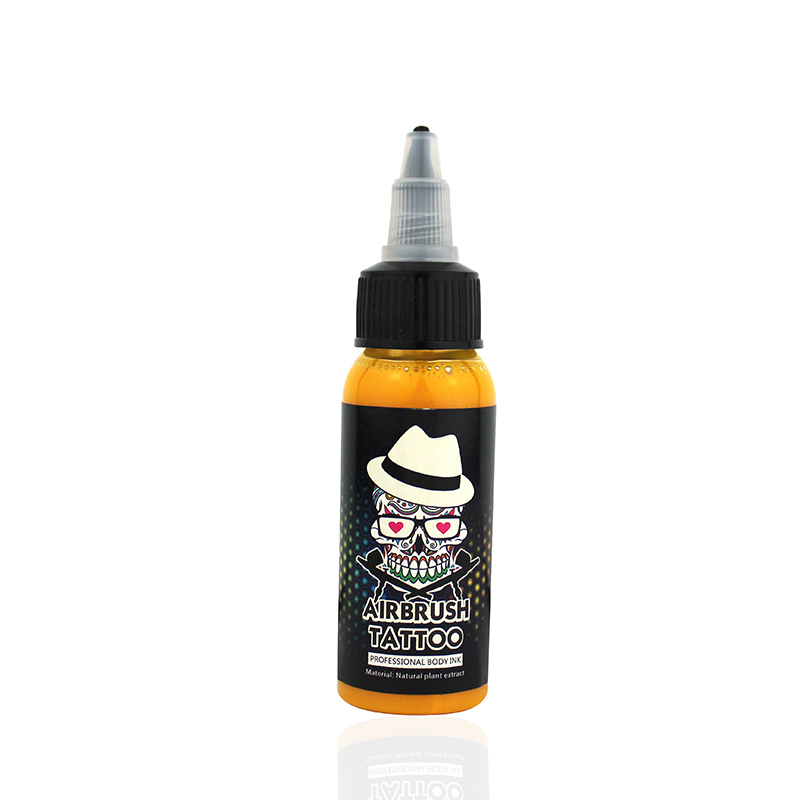 OPHIR Temporäre Airbrush Gemeinsame Tinte 30 ML / Flasche Acrylfarben für Körperbemalung Tattoo Tinte Pigment Schwarz Color_TA053 (1-18)
