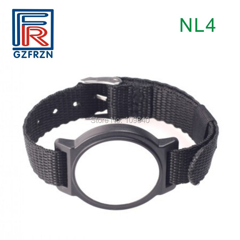 10pcs Ultralight Hf Rfid Woven Wristband Nylon adjustable Bracelet watch type card for access control survival nylon bracelet brown
