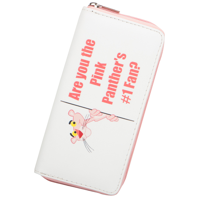 Cute Cartoon Themed Pink Leather Girl's Wallet