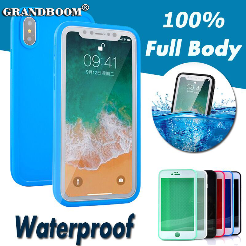 For IPhone X 8 7 Plus Waterproof Case TPU Full Boday Cover