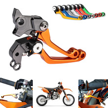 New CNC Pivot Brake Clutch Levers for KTM 250XC-F/XCF-W 2007-2014 250SX-F 2005-2015 400EXC 2009-2011 Orange Freeshipping C20