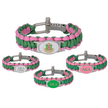 custom greek letters sorority and fraternity accessories gifts 550 paracord bracelets aka adjustable survival bracelet