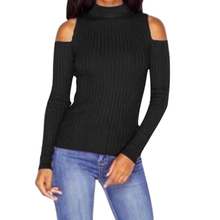 turtleneck off shoulder sexy pullover sweater women Tricot oversize jumper pull femme Spring fashion knitted outwear top