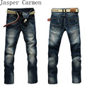 2017 new free shipping men jeans straight midweight for 4 seasons mid waist men's full length cotton pants  44