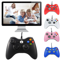 Gen Game USB Wired Joypad Gamepad Black Controller For Xbox 360 Joystick For Official Microsoft PC