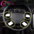 4 Unids/set Acero Inoxidable Decoración Del Volante Ajuste de La Cubierta de Pegatinas para Ford Focus 2 MK2 2005-2011 Etiqueta Engomada Del Coche accesorios