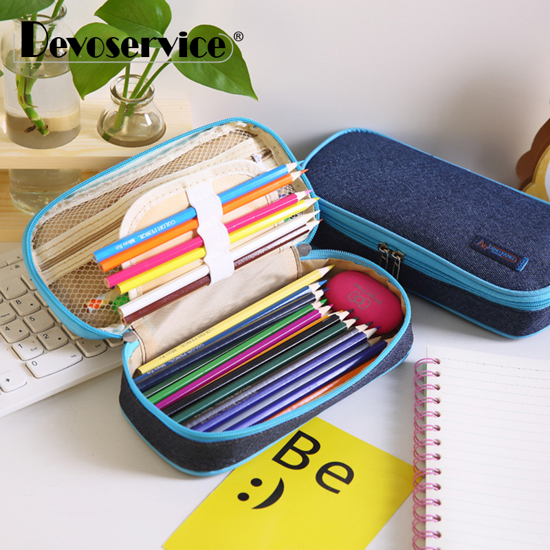1Pcs Multifunction School Pencil Case Pen Bag Large Capacity Canvas Pen Curtain Box For Boy Students Gifts Stationery Supplies