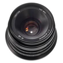 25mm F/1.8 Prime Lens Manual Focus MF For Fujifilm Fuji X-mount X-H1 X-E3 X-E2S X-A10/A20 X-T1/T10 X-Pro1/Pro2