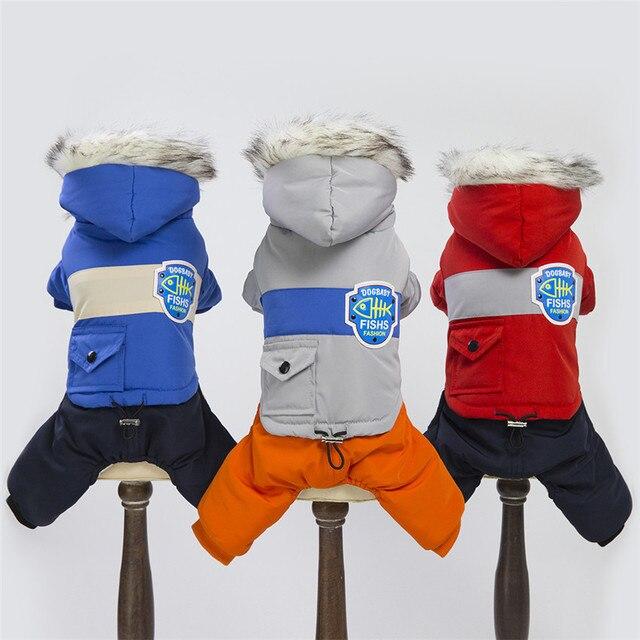 Caldo Animali Domestici Vestiti Del Cane Del Cotone Russia di Inverno Ispessisce