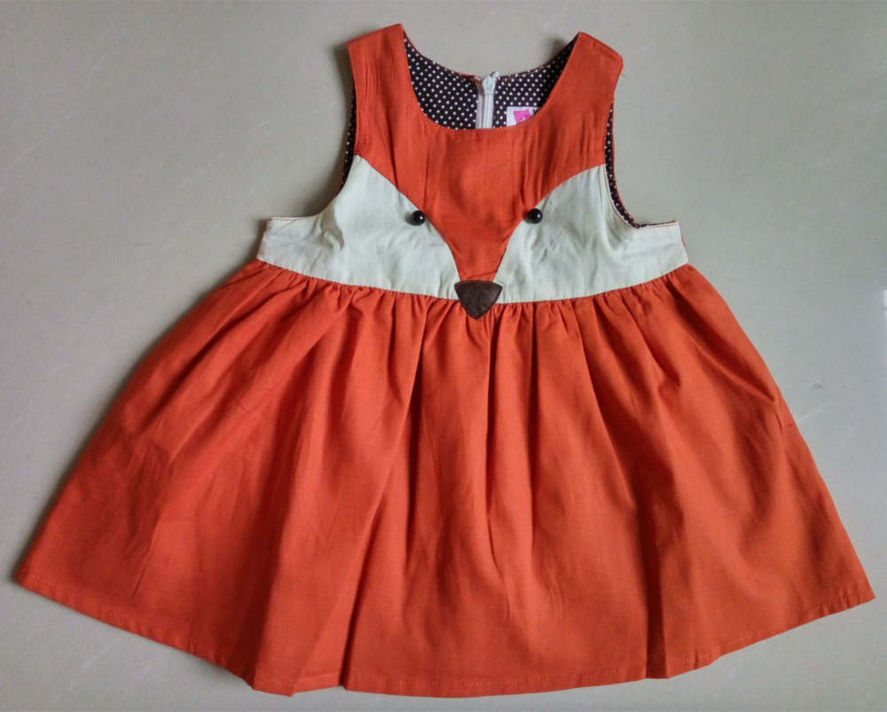 2017 Spring Sweet Toddler Baby Girl Fox Style Ruffles Casual Fashion