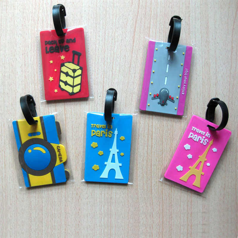 Reizen Accessoires Creative PVC Bagage Tag Speciale Cartoon Koffer ID Adres Holder Bagage Tags Draagbare Label