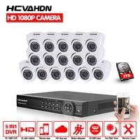 16CH AHD 1080P cctv system AHD kit 3000tvl 1080P AHD NH dvr 1920*1080 2.0mp AHD camera mini cctv kit surveillance CCTV system