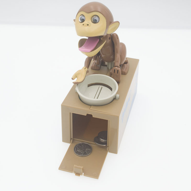 1pcs Children Cartoon Electric Money Stealing Monkey Money Saving Box Weird Coin Funny Left And