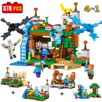 4Pcs Set My World City Building Blocks Bricks Model Set Minecrafted Sword Figures Compatible With Legoed