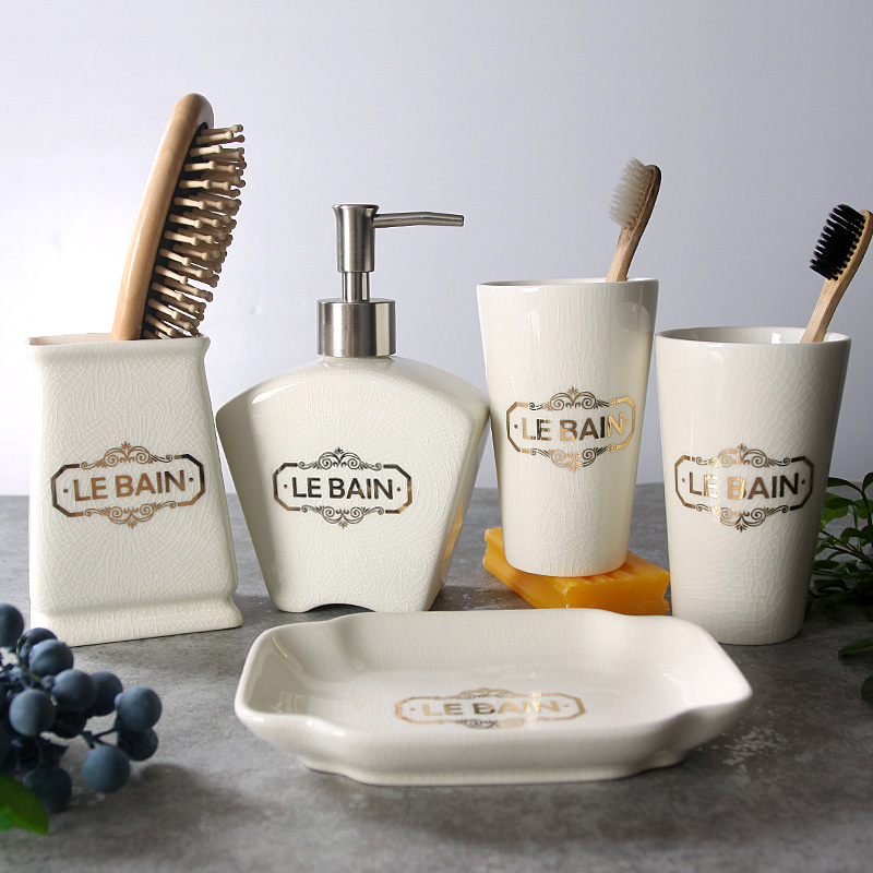 ghiaccio set da bagno in ceramica cinque pezzi di accessori da bagno moda moderna bagno decor