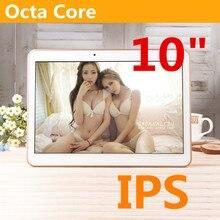 10 pulgadas 8 Núcleos MTK6592 núcleo Octa 1280X800 ram 4 GB ROM 64 GB 5.0MP 3G llamada de teléfono de doble tarjeta sim Tablet PC Tabletas PCS Android5.1