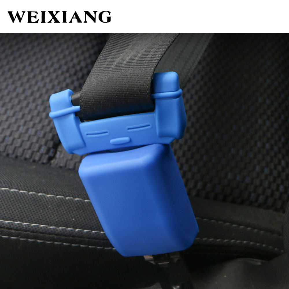 Soft Silica Gel Safety Seat Belt Lock Buckle Plug Protective Cover Anti-Scratch Dust Protection Car Styling Black Red Blue