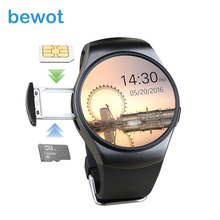 Bewot Smart Watch SmartWatch KW18 Bluetooth 4.0 Носимых устройств с Heart Rate Monitor монитор Сна MT2502C для iOS и Android