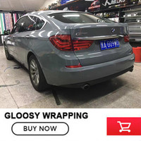 1 52 30m Cement Grey Ultra Glossy Vinyl Wrap High Gloss Gray Shiny With ADT Air