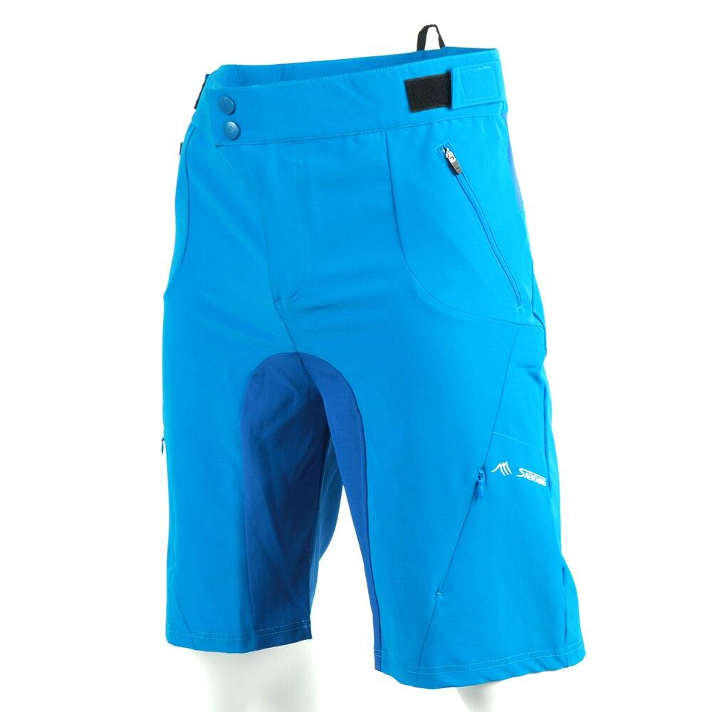 Gel Vtt blue Black Shorts Montagne Pcs De jaune bleu Pad And Court 2 Avec Noir Descente Mode pIxwzW4