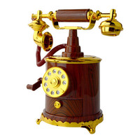 Vintage Phone Musical Box Retro Decoration Hand Cranked Music Box Jewelry Plastic Crafts Telephone Music Boxes