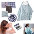 4 Colors Cotton Breastfeeding Cover Nursing Covers Shawl Breast Feeding Covers Flower Printed Nursing Covers for Feeding Baby
