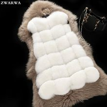 La Mode des femmes Solides O-cou Poches Vente Chaude Nouvelle Fourrure Gilet 2017 Faux Fux D'hiver Gilets Manteau Veste Faux Lapin Femelle Pour Filles