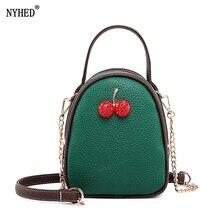 NYHED New Cherry Shell Handbag For Women Fashion Chains 3 Zipper Bag