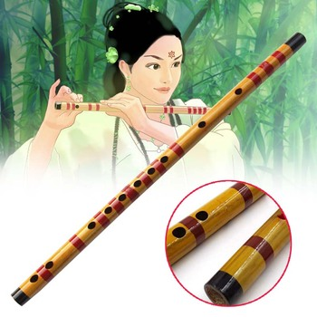 Bamboo Flute Chinese Traditional Bansuri Woodwind Musical Instrument Wooden Handmade Flute Musical Instrument Educational toy