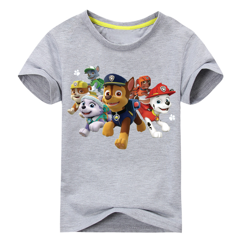2018 New Cartoon Dog Printing T-shirt For Boy Girls Short Sleeves 100%Cotton T Shirt Children Summer Tee Tops Clothes GL001 2017 baby new batman printing clothes boy cartoon t shirt girl 9 colors t shirt children short sleeve tee tops for kids acy031