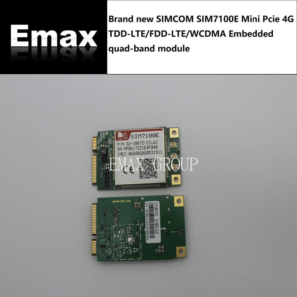 SIM7100E SIMCOM MINI PCIE low cost 4G FDD/TDD-LTE Modem pin to pin SIM5320  support GPS GNSS USB voice function New Original
