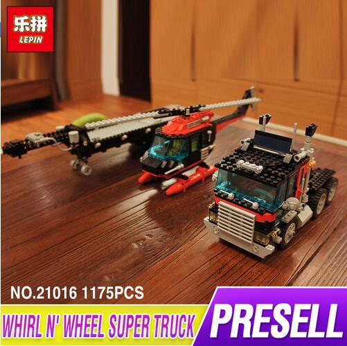 Lepin 21016 1175Pcs The Turbine Super Truck Set Genuine New Technic Series Children Educational Building Blocks Bricks Toys 5590 lepin 21010 technic super racing car series the red truck set children educational toys building blocks bricks compatible 75913