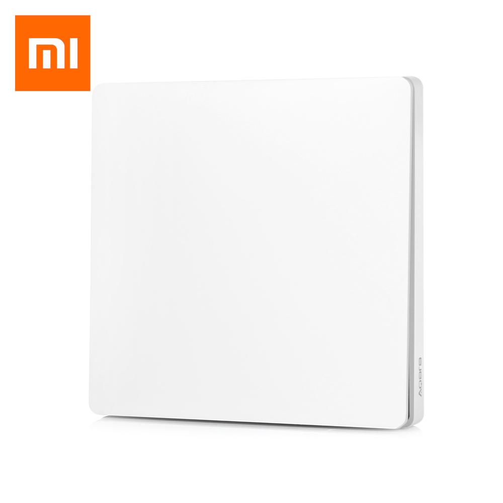 Original Xiaomi Aqara Smart Light Control Fire Wire And Zero Line Single Key Milk White Wall