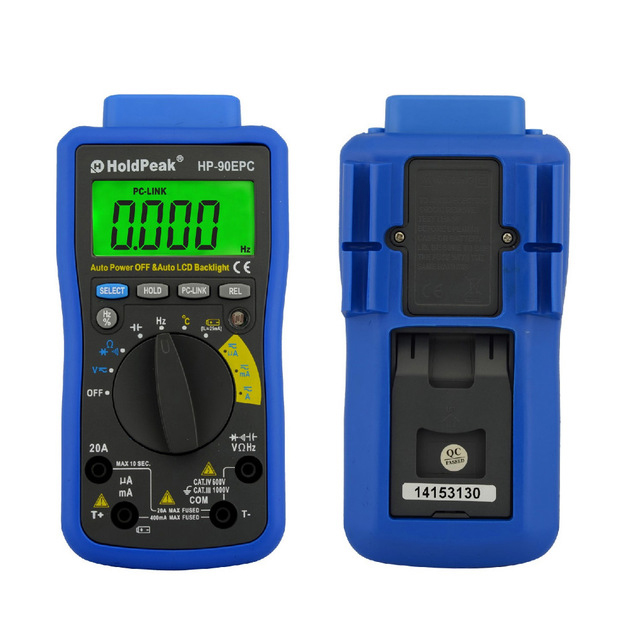 купить HoldPeak HP-90EPC Multimetr Digitais USB Multimeter Digital Auto Range Multimeter Capacitance Meter Data USB with Carry Bag по цене 3939.78 рублей