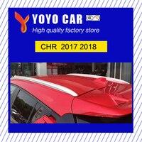 Горячая распродажа высокое качество алюминиевый сплав наклейка установить боковой направляющей Бар Багажник На Крышу для C HR CHR 2017 2018
