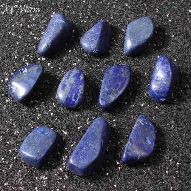 11272e5938a KiWarm 10Pcs New Arrival Blue Irregular Sodalite Stone Tumbled Stones  Healing Crystals Gemstone Gems Reiki Beads