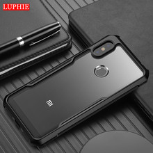 LUPHIE Silicon Clear Case For Xiaomi Max 3 Note3 Mix 2s 360 Full Body Shockproof Cover mi8 Redmi 6Pro Armor