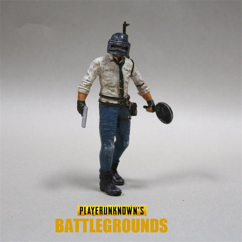 Playerunknowns Battlegrounds PUBG Around 6 inch doll figure spot to eat chicken tonight Metal Fashion Car Weapon model