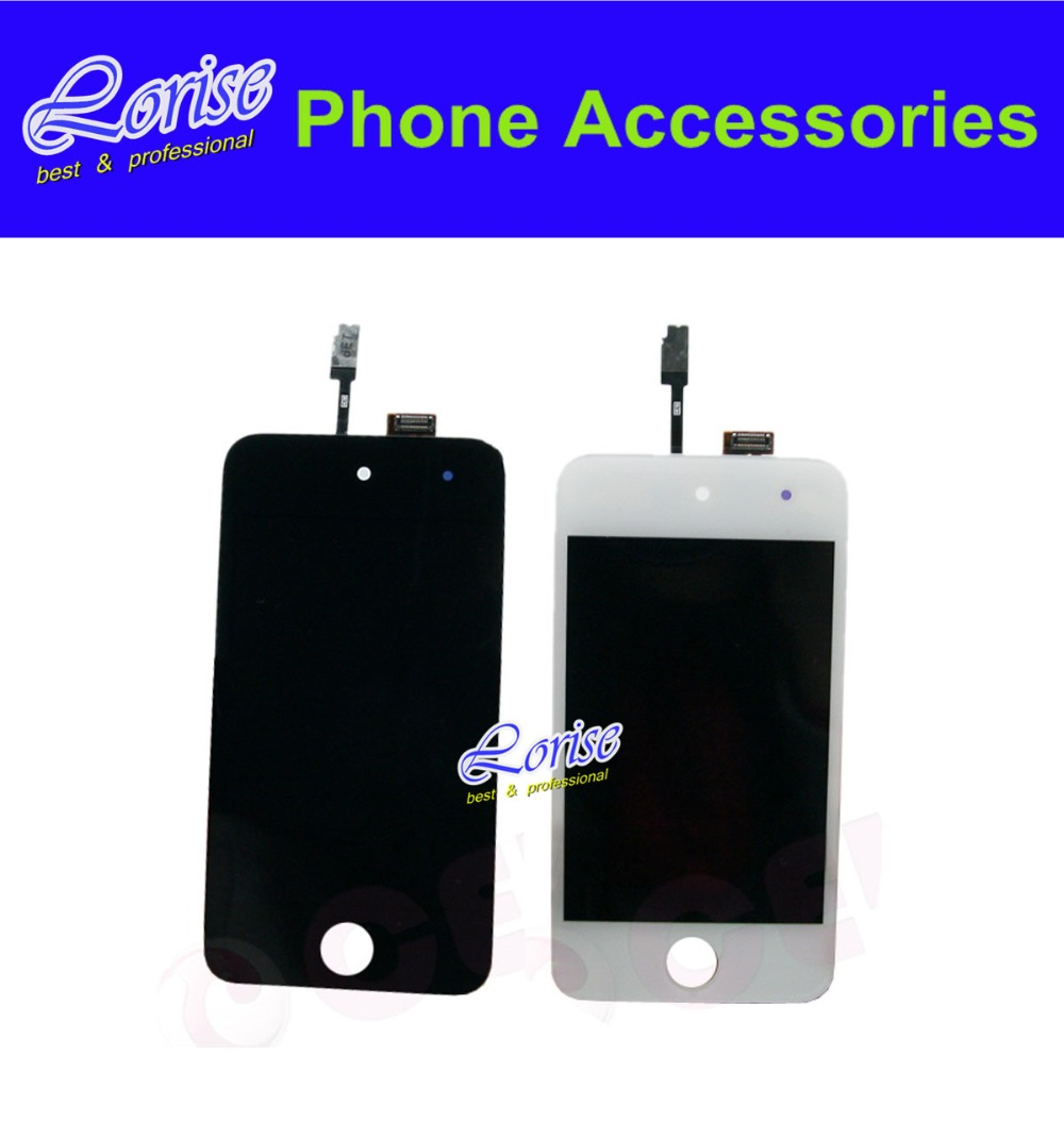 Full Original 1PC For iPod Touch 4 4G LCD Black white LCD Display Touch screen Digitizer